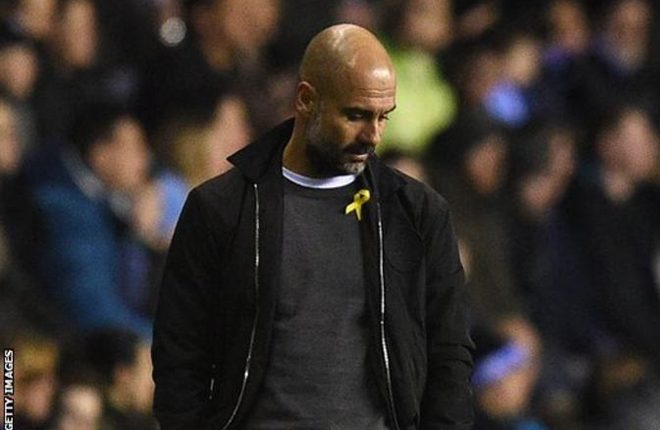 Man City boss fined for 'act of defiance' over yellow ribbon