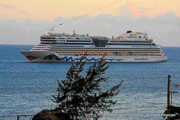 Three of the four cruise ships on Thursday made inaugural calls; veteran photographer Keethon France captures departures
