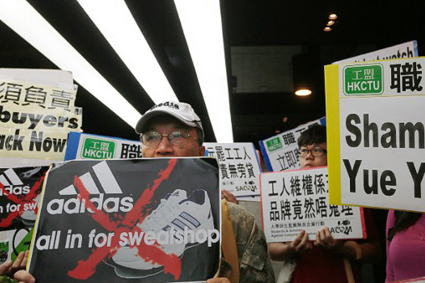Adidas shifts orders after massive strike at Chinese shoe factory