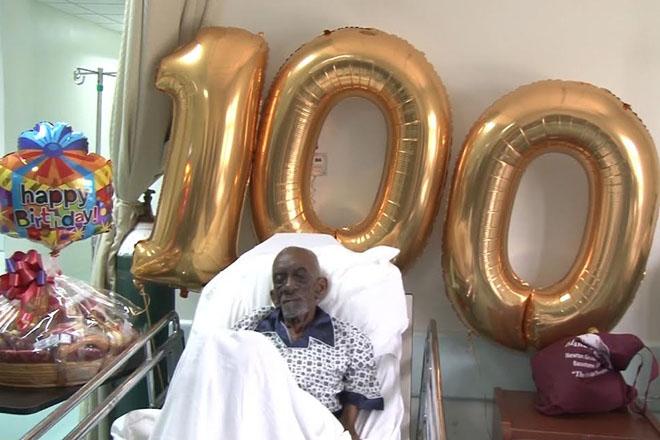 Amos Davis turns 100