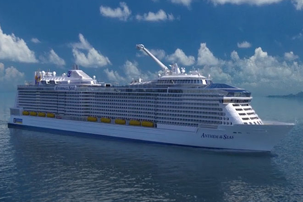 Anthem of the Seas heads for St. Kitts' Port Zante during 2015/2016 season