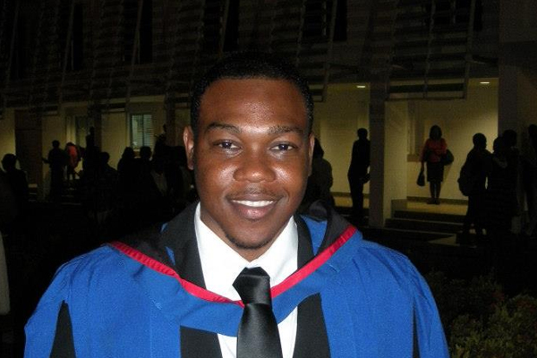 Azard Gumbs graduates with Bachelor of Laws degree with honours