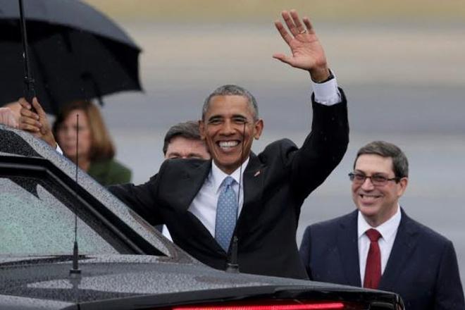 Barack Obama in Cuba at start of historic visit