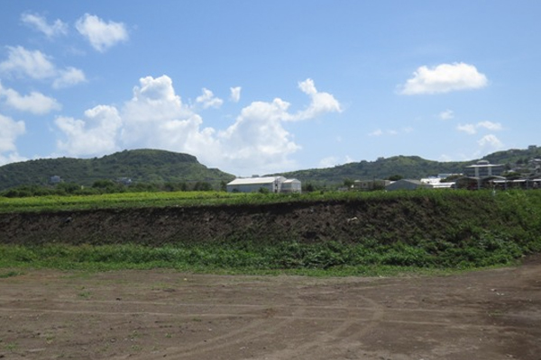 Berm will trap more water for the Basseterre aquifer