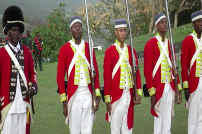 Beating the Retreat Ceremony at Brimstone Hill