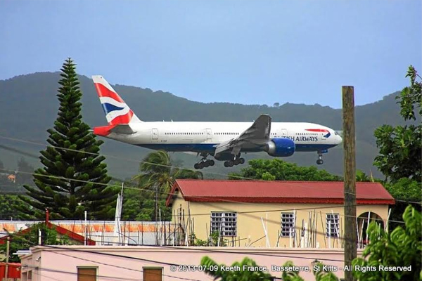 BA flights to St. Kitts on Wednesdays and Saturdays from late October