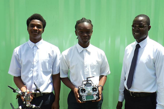 CFBC students construct drone from scratch