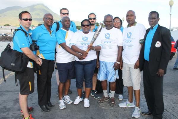 Queen's Baton makes its way around Nevis