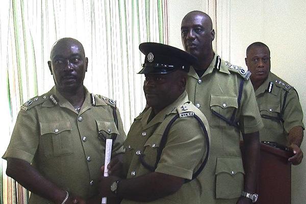 Commissioner awards police officers