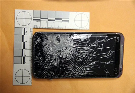 Cell phone stops bullet