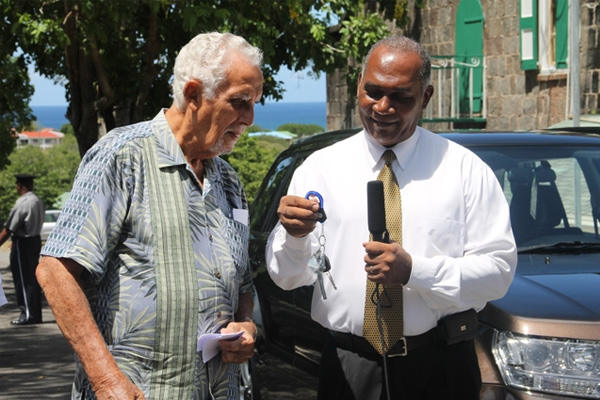 Local businessman donates new vehicle to the people of Nevis