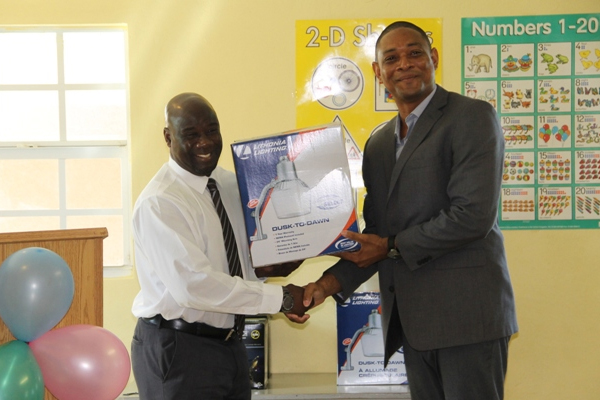 Nevis schools get security lighting through private sector partnership