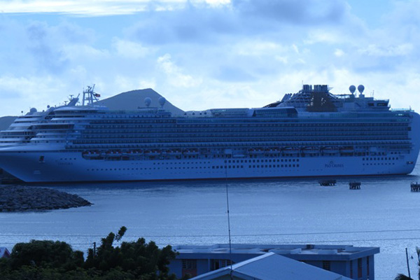 Four cruise ships with over 7,000 passengers visited St. Kitts Thursday, over 17,000 for this week