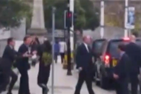 UK man detained for running into Prime Minister David Cameron