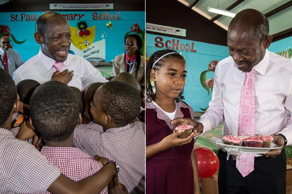 PM Douglas inspires St Pauls Primary School during his Birthday Visit