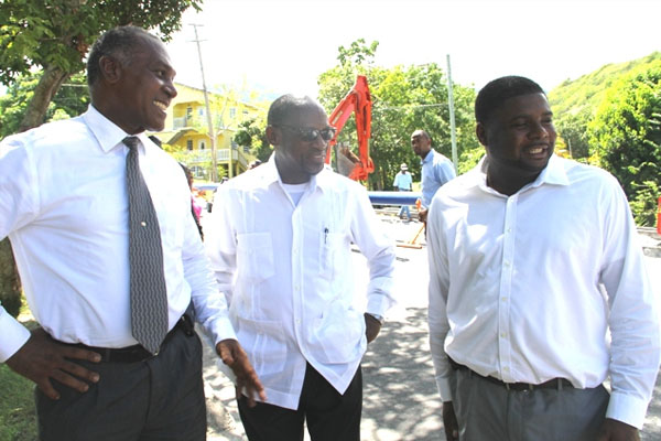 Nevis Premier thanks PM Douglas for visiting ongoing works at major water supply project