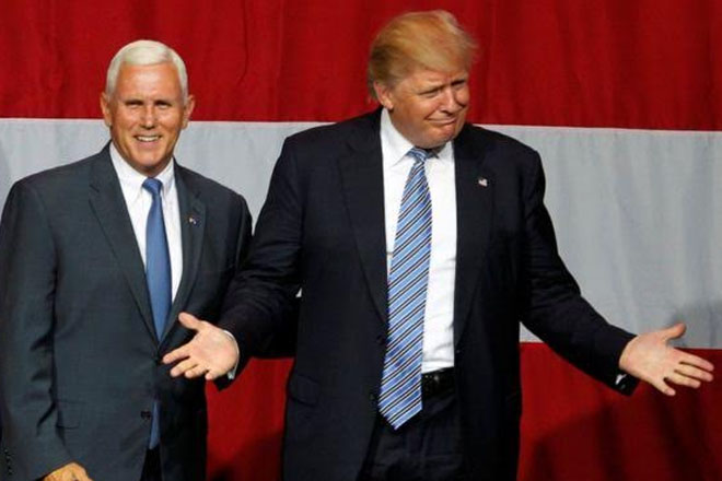 Trump family meets Indiana governor Mike Pence as VP talk grows