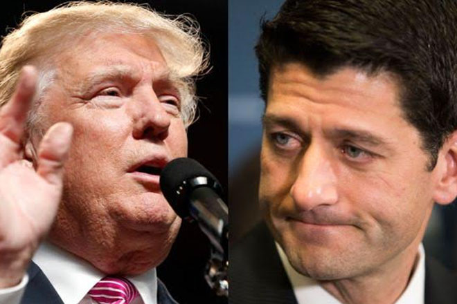 US election: Trump and Ryan 'totally committed' to party unity