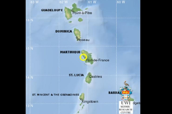 Earthquake shakes part of Lesser Antilles