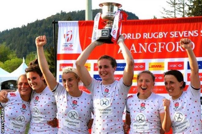 World Rugby Sevens: England women beat New Zealand in final