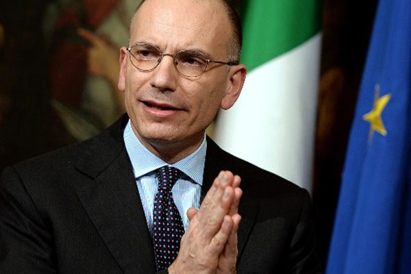 Italy's Prime Minister Enrico Letta resigns