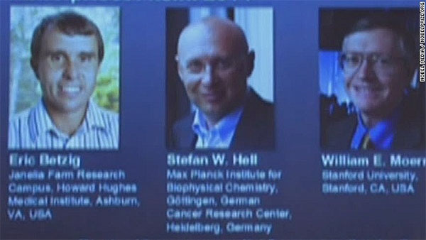 2 Americans, a German win Nobel Prize for chemistry