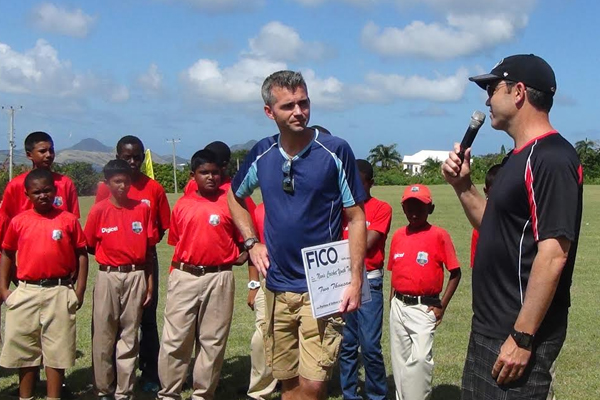 FICO presents significant cheque to Nevis Sports Department