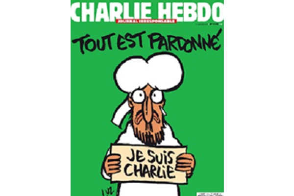 Charlie Hebdo puts prophet cartoon on cover of first edition after attack