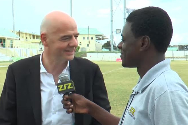 FIFA Presidential Candidate Visits St. Kitts-Nevis