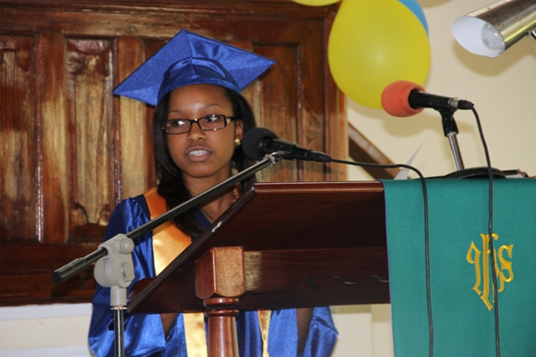 Make a difference in the world – GSS 2014 Valedictorian Walters tells fellow graduands