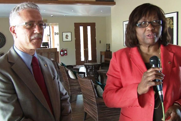 Director of PAHO Dr. Carissa Etienne visits Federation