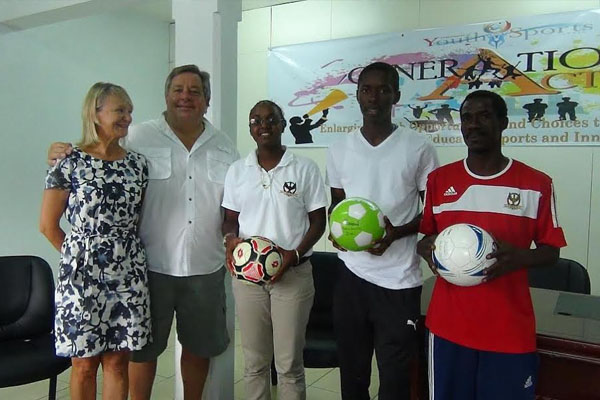 One Hundred Footballs Donated