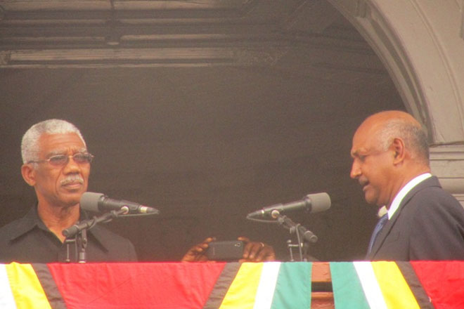 Guyana President Granger congratulated by PM Harris