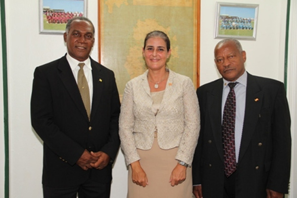 Ambassador of Spain pays courtesy call on Premier of Nevis