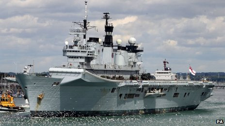British carrier HMS Illustrious to aid typhoon victims