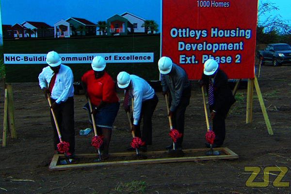 Government Breaks Ground in Ottley's for Habitat 30 Independence Homes