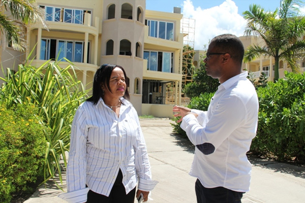 Tourism Minster pleased with progress at Hamilton Beach Villas and Spa