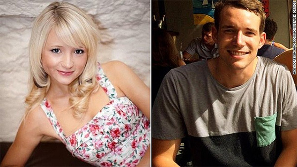 Families pay tribute to Britons killed in Thai beach resort; police hunt killer
