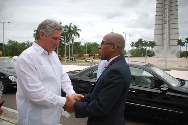 Deputy Prime Minister Hon. Earl Asim Martin calls on Vice President