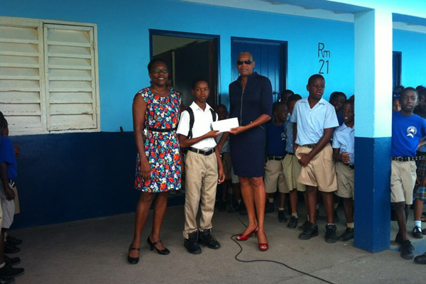 Parliamentary Representative for Central Basseterre, The Hon. Marcella Liburd, Presents Second Annual Awards to Students of the Beach Allen Primary School