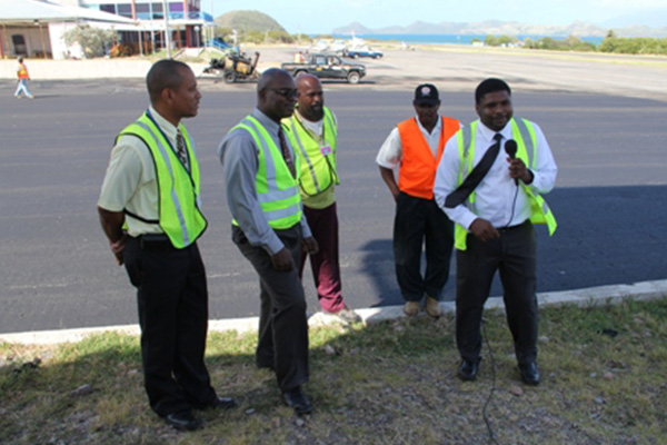 Nevis Public Works Department workers commended
