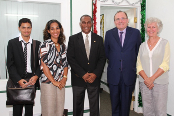 French Ambassador to the OECS pays courtesy call on Nevis Premier
