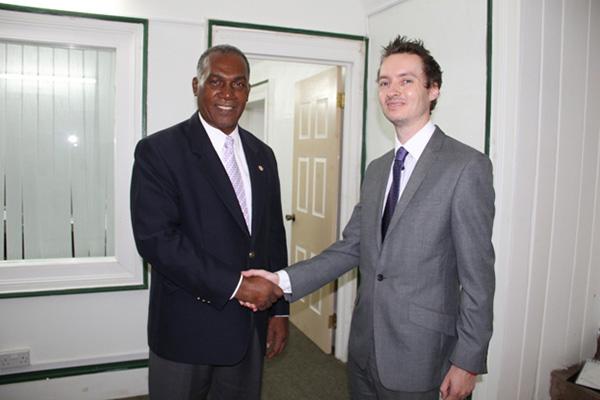 Barbados-based British High Commission official visits Nevis Premier