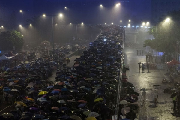 Hong Kong protests dwindle as exhaustion sets in