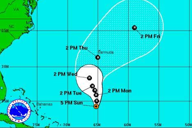 Nicole forecast to become a hurricane again as it heads towards Bermuda