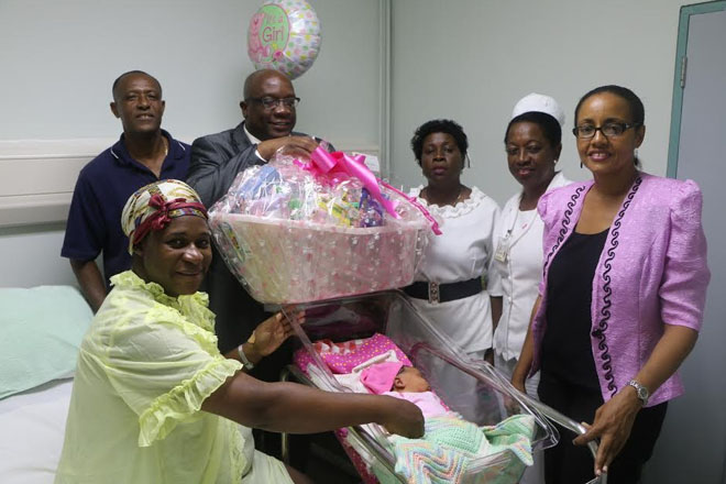 """Prime Minister Harris visits Independence Baby """"Indee"""" at JNF Hospital"""