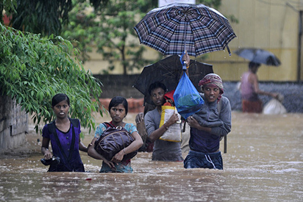 Floods kill at least 55 in northeast India