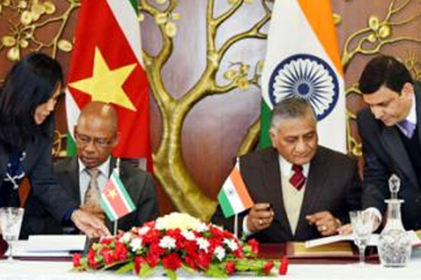 Suriname foreign minister begins India visit