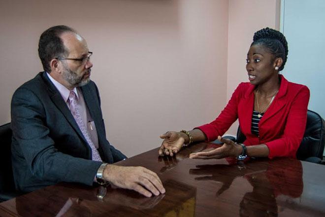 Caricom Secretary General meets with St. Kitts –Nevis' Caricom Youth Ambassador Boddie