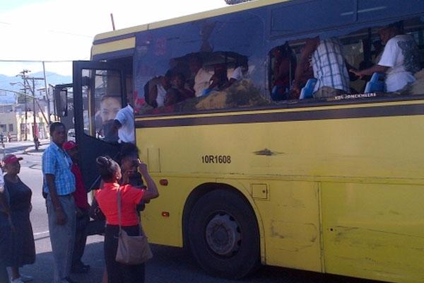 Two JUTC buses crash in Cross Roads